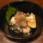 新鮮な牡蠣をかぼすと共に・・・