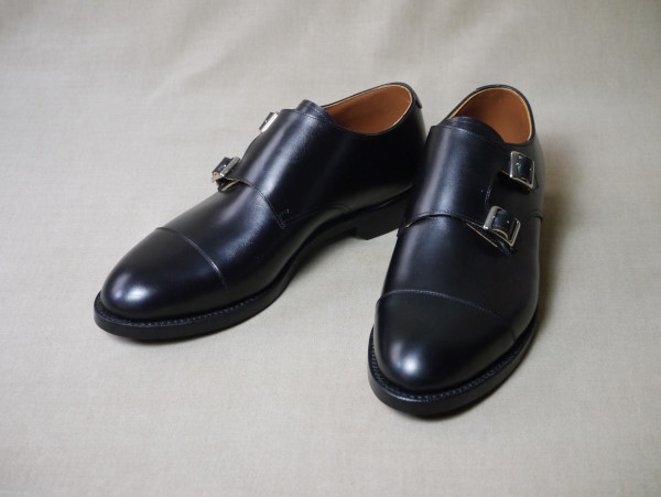 11.Cap double monks_Smooth_BLK正面