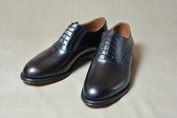 1.Plain oxfords_Smooth_BLK正面