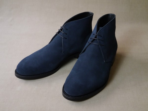 12.Chukka boots_Suede_NVY正面