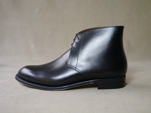 12.Chukka boots_Smooth_BLK横