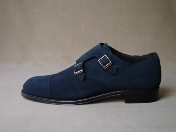 11.Cap double monks_Suede_NVY横
