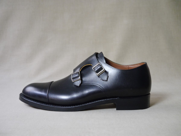 11.Cap double monks_Smooth_BLK横