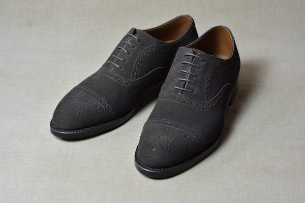 4.Semi brogue oxfords_Suede_DBR正面
