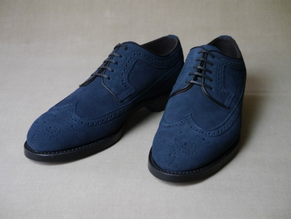8.Full brogue derbys_Suede_NVY正面
